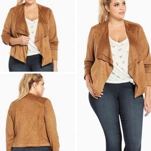 Torrid Women's Faux Suede Layered Drape Jacket, 2X